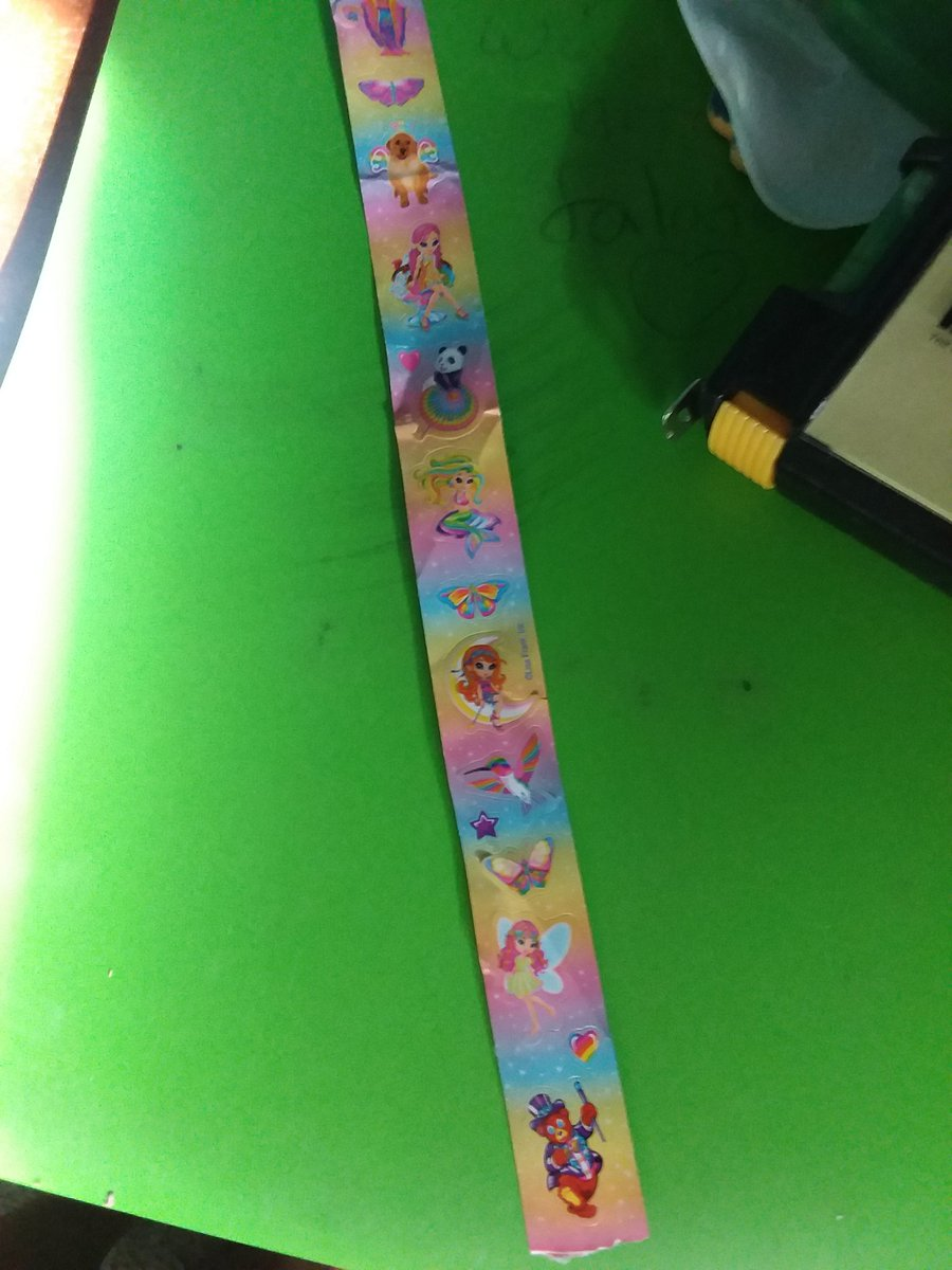 If you've ever wondered how bad I am at cleaning, I just found a strip of Lisa Frank stickers in my desk skfjsk