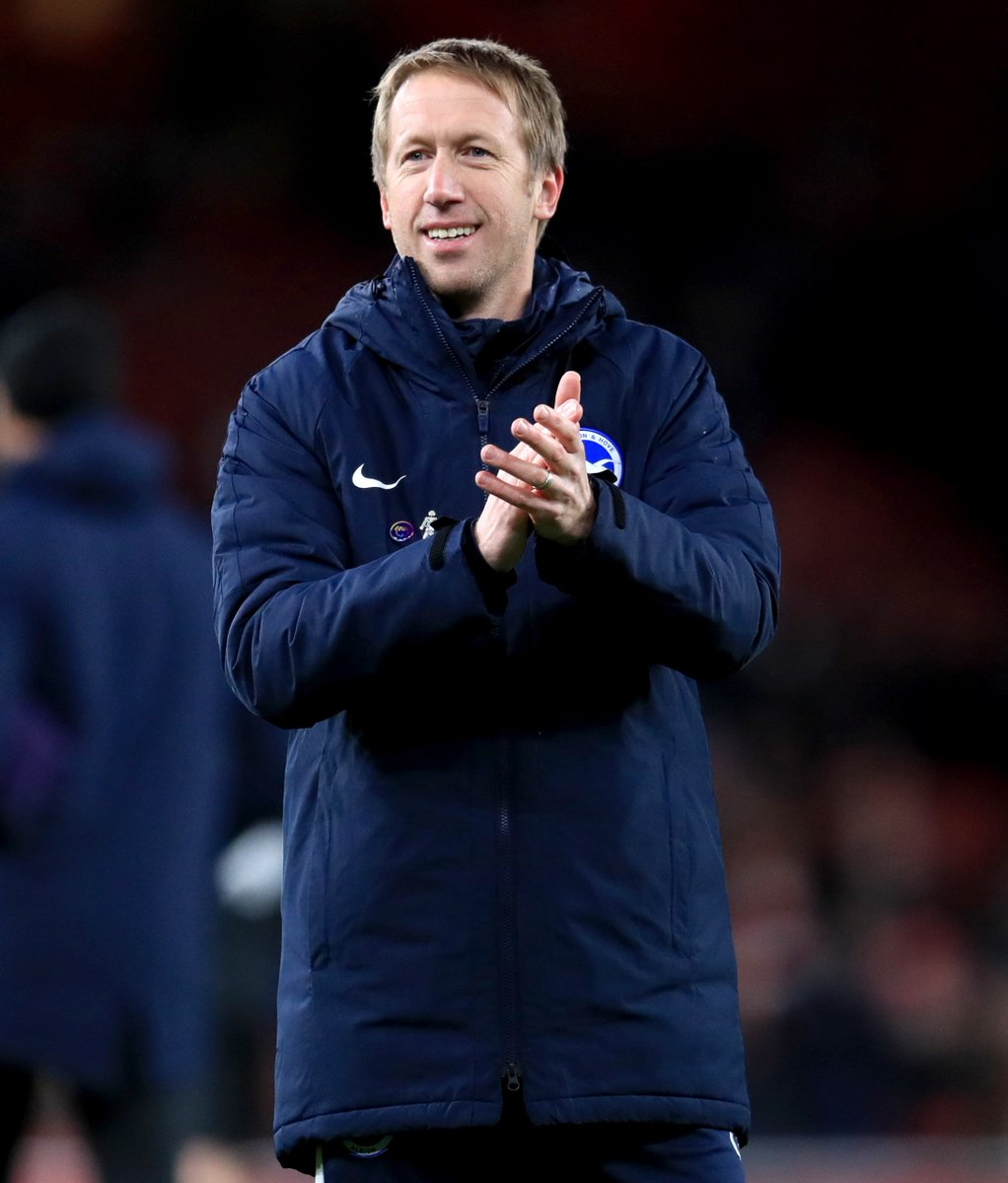 Graham Potters two games at the Emirates Stadium as a manager: ✅ Arsenal 1-2 Östersund ✅ Arsenal 1-2 Brighton Potter with the magic again. 🧙♂️