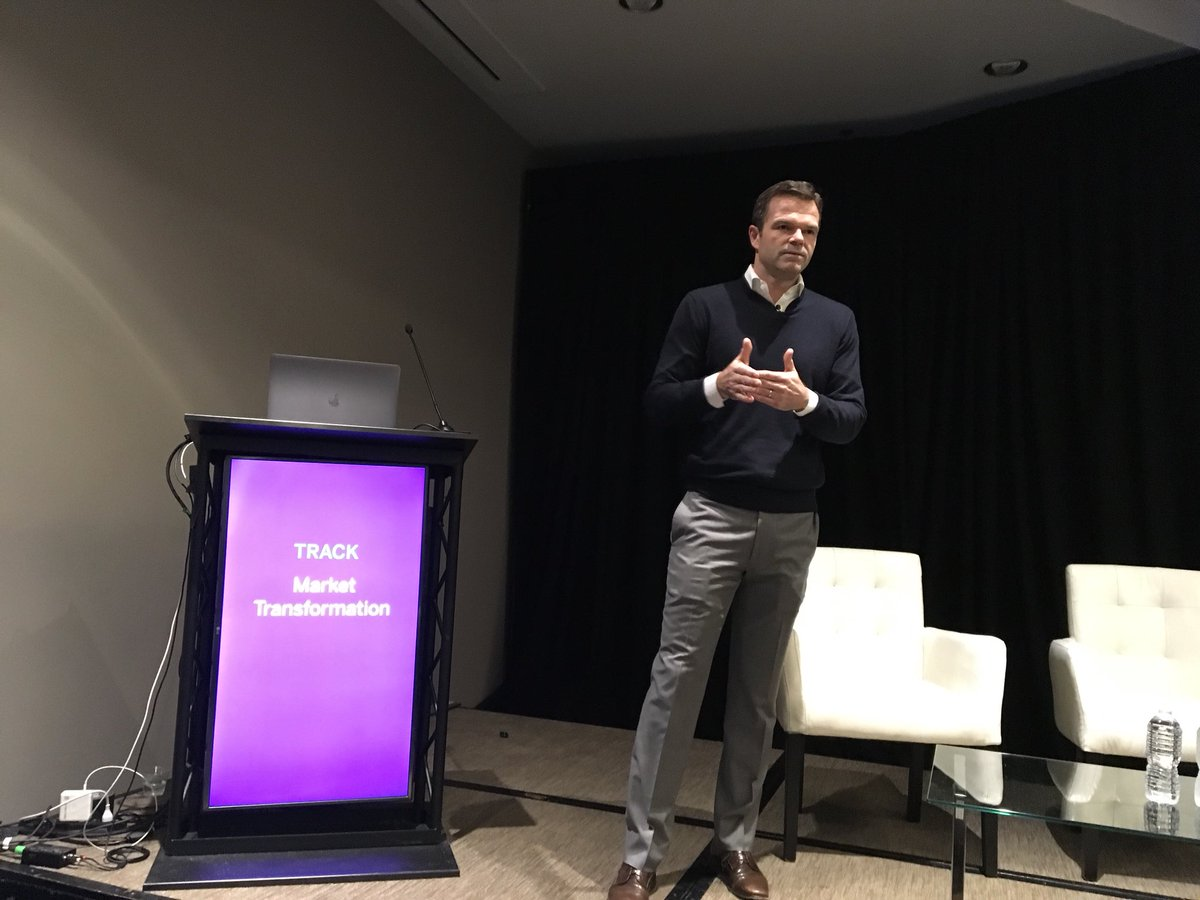 """No rest, even for established fintech firms. """"We will be disrupted and there is no safety net. There will be further streamlining of platforms, further costs taken out of these platforms."""" @MoneyLion's Jon Stevenson. @InVest_Event #InVestWest"""