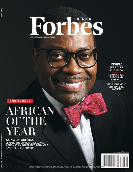 Forbes Names Akinwumi Adesina African Of The Year