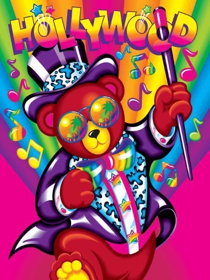 """Who's your favorite Lisa Frank character, mine's """"Hollywood Bear"""" who is undeniably 100% just a pimp pic.twitter.com/ev1whgy66j"""