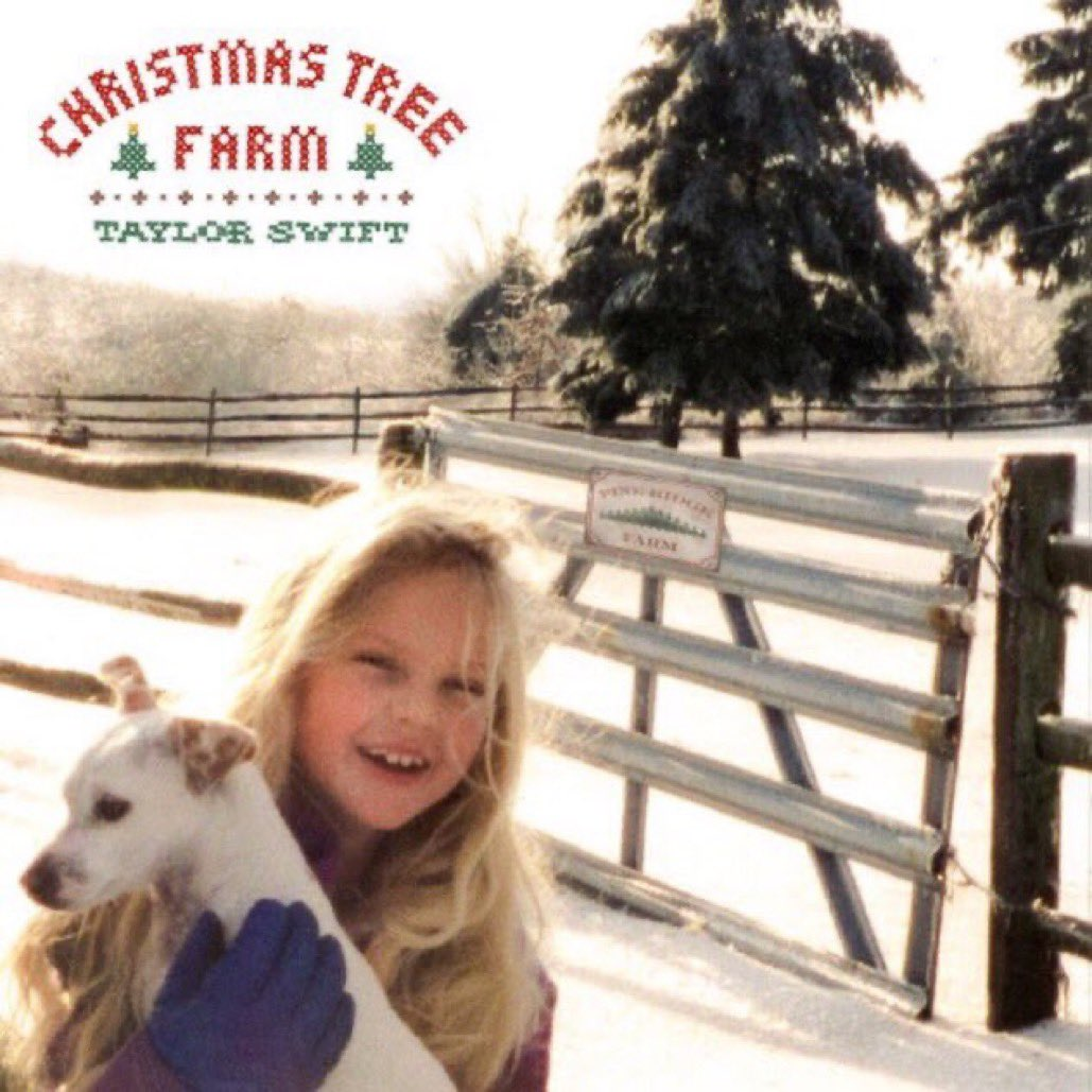 The song cover for #ChristmasTreeFarm has young Taylor and a running time of 3:49!    It releases in 6 HOURS tonight at midnight!  <br>http://pic.twitter.com/mDyz14jLRC