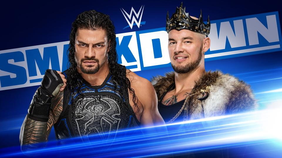 El Rey @BaronCorbinWWE quiere humillar a @WWERomanReigns esta noche en #SmackDown. ¿Lo conseguirá? 🔵 Síguenos a las 7pmCT en #WWExFOX!