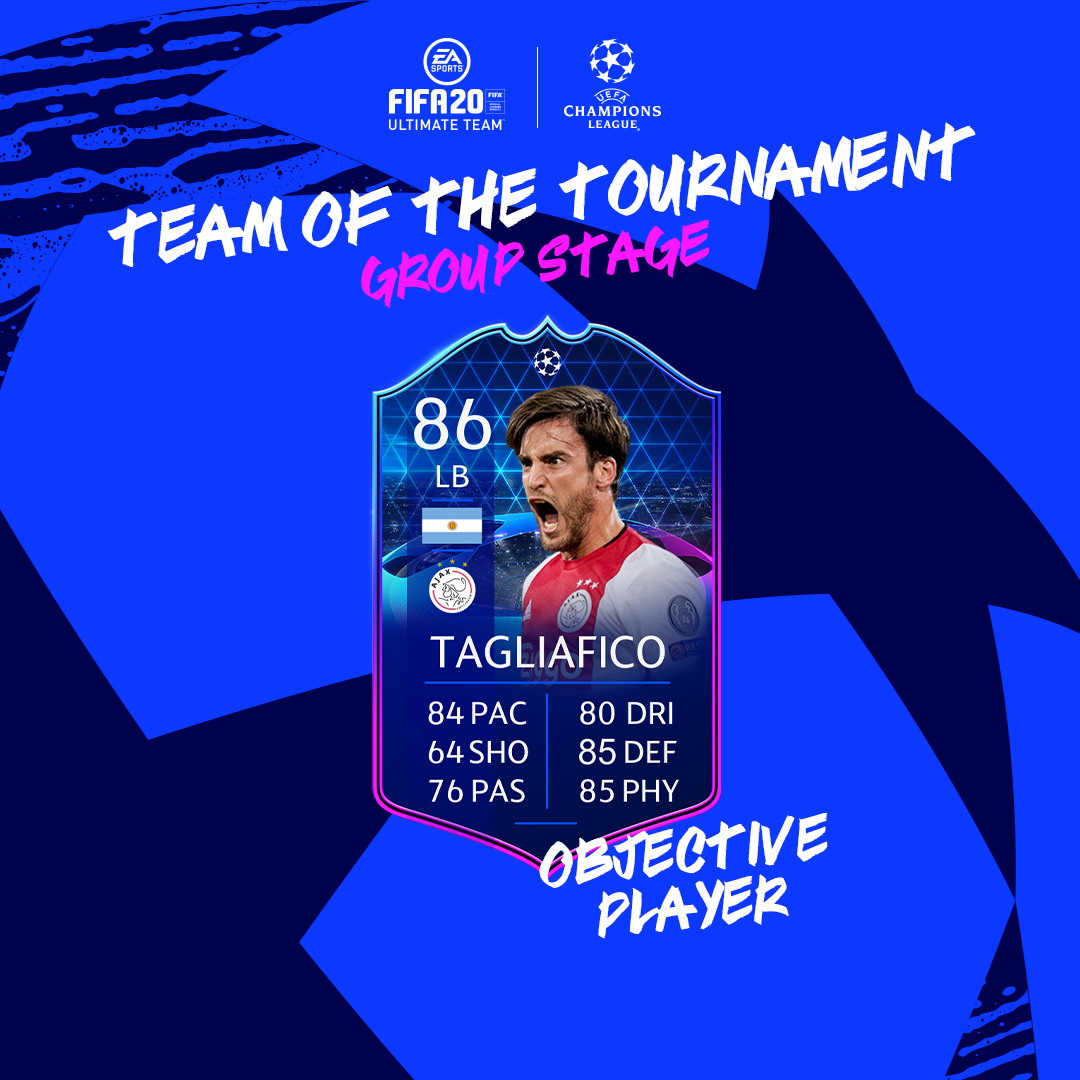 Getting it done on both ends of the pitch. 💪 #TOTTGS Tagliafico is available via Objectives! #UCL | #FUT20