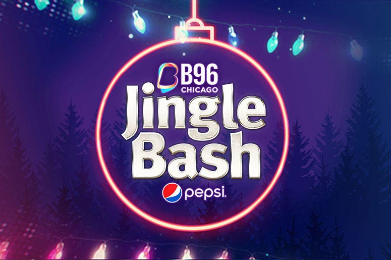 TOMORROW!! The @Pepsi #Jinglebash is tomorrow!! There are just 2 places left to win tickets! #Berwyn and #Chicago today! Click here to see the details!  https://b96.radio.com/events