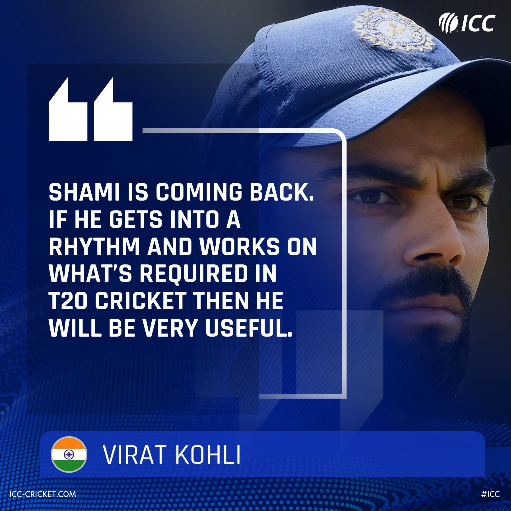 Virat Kohli is looking forward to Mohammed Shami's return to India's T20I side after two years!#INDvWI