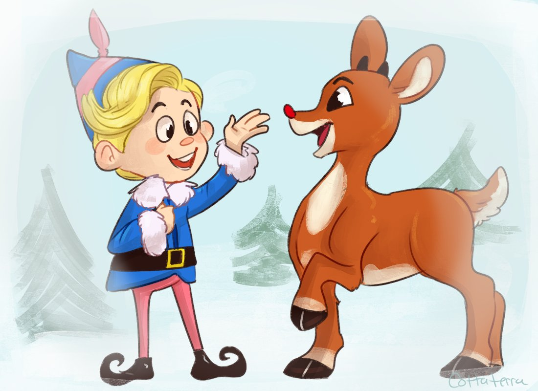 A couple of misfits<3  #RudolphTheRedNosedReindeer #rudolph #Christmas
