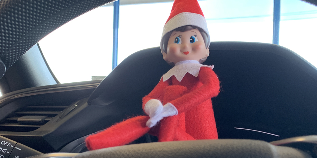 Never know where she will be in the showroom. Stop in tomorrow and see if you can spot our Elf!#HolidayShopping #HappyHondaDays #Honda #LongIsland
