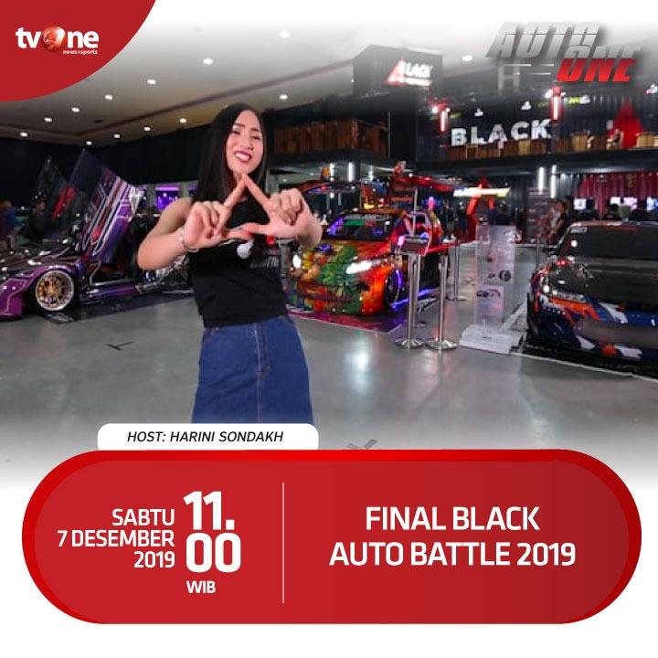 Final BlackAuto Battle 2019, ajang kontes modifikasi otomotif terbesar di Indonesia ini menggebrak kota Yogyakarta.Saksikan keseruan Final BlackAuto Battle di program autoOne, Sabtu, 7 Desember 2019 jam 11.00 WIB hanya di tvOne.#autoOne