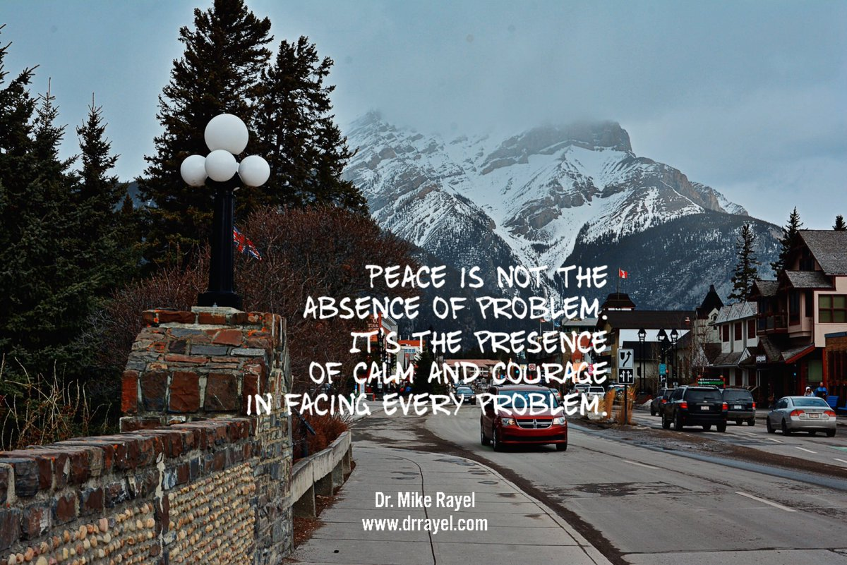 Peace is not the absence of problem. It's the presence of calm and courage in facing every problem. #inspirationalquote #wisdomquote #wisdomwords #foodforthought #motivationalmd