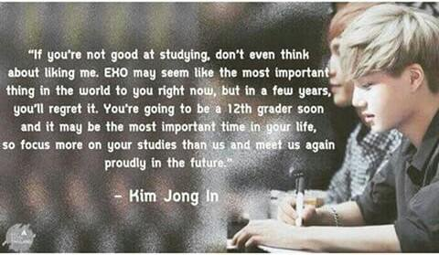 sehun's constant concern abt student fans possibly missing school always makes me think of this classic jongin quote. sekai are both such wise maknaes who really care about the well-being of their younger fans <br>http://pic.twitter.com/menlv2TXEV
