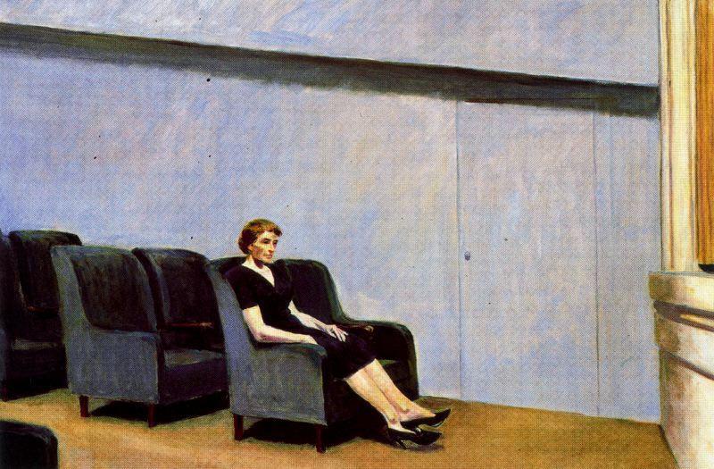 Intermission (also known as Intermedio), 1963  https://www. wikiart.org/en/edward-hopp er/intermission-also-known-as-intermedio  …  #newrealism #hopper<br>http://pic.twitter.com/IwQGINJuZL