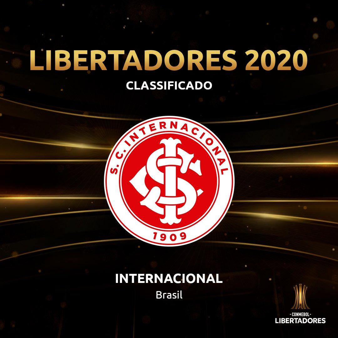 🇧🇷🇦🇹👋 O bicampeão está de volta! 🏆 O @SCInternacional vai para a sua participação de número 1⃣3⃣ na #Libertadores de 2020. Agora, todas as 8⃣ vagas do Brasil na Copa estão preenchidas!