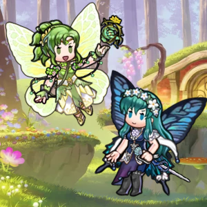 i had to play with the new fairy assets! i just had to. this pixie hollow/fairytopia/lisa frank nonsense is my jam lol  they're each inspired by a plant/flower - l'arachel is clover, eirika is a moonflower, lissa is a daisy, and maribelle is a rose! feel free to use with credit