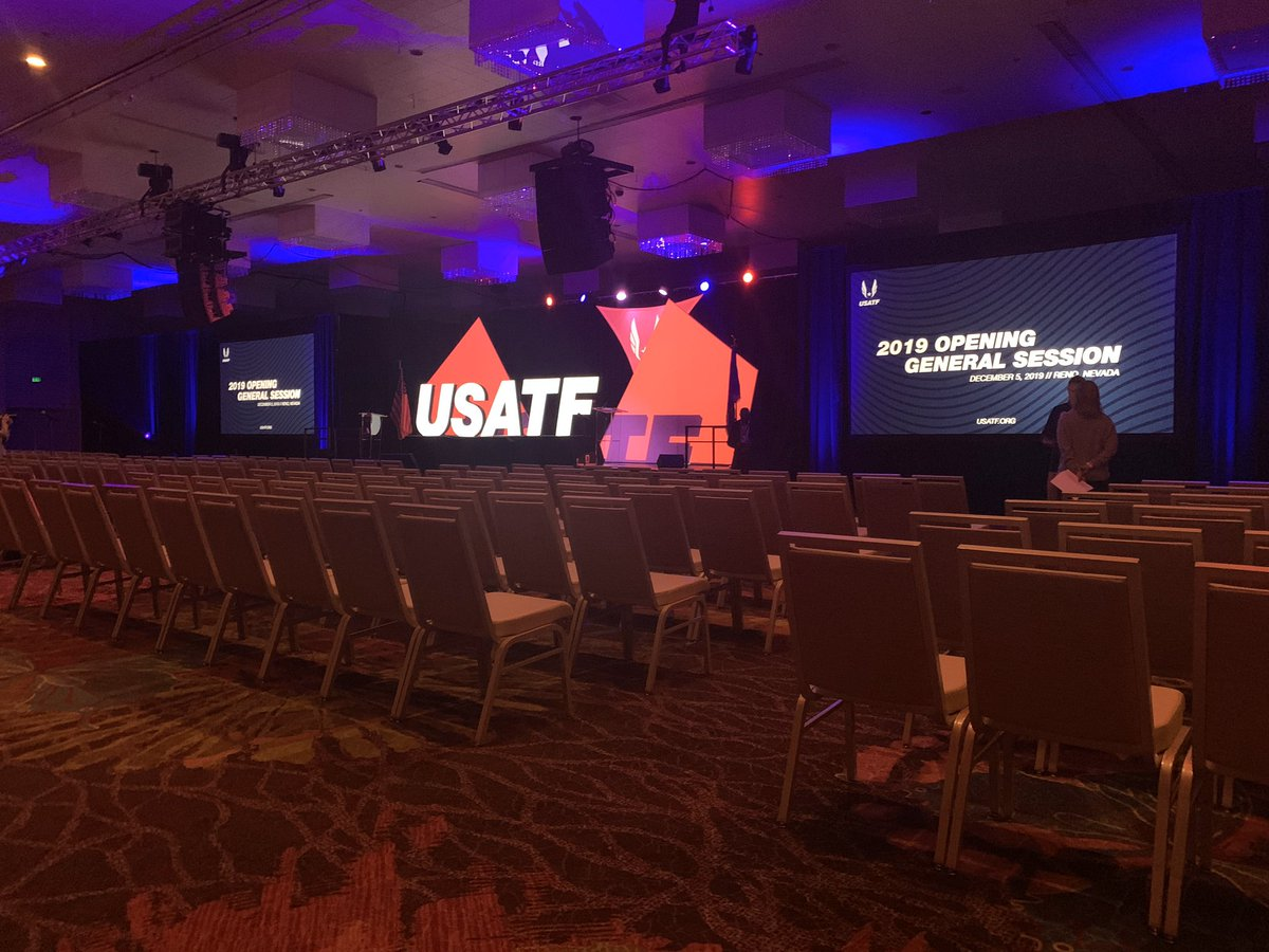 #NFHS attending Opening General Session at #USATF annual meeting