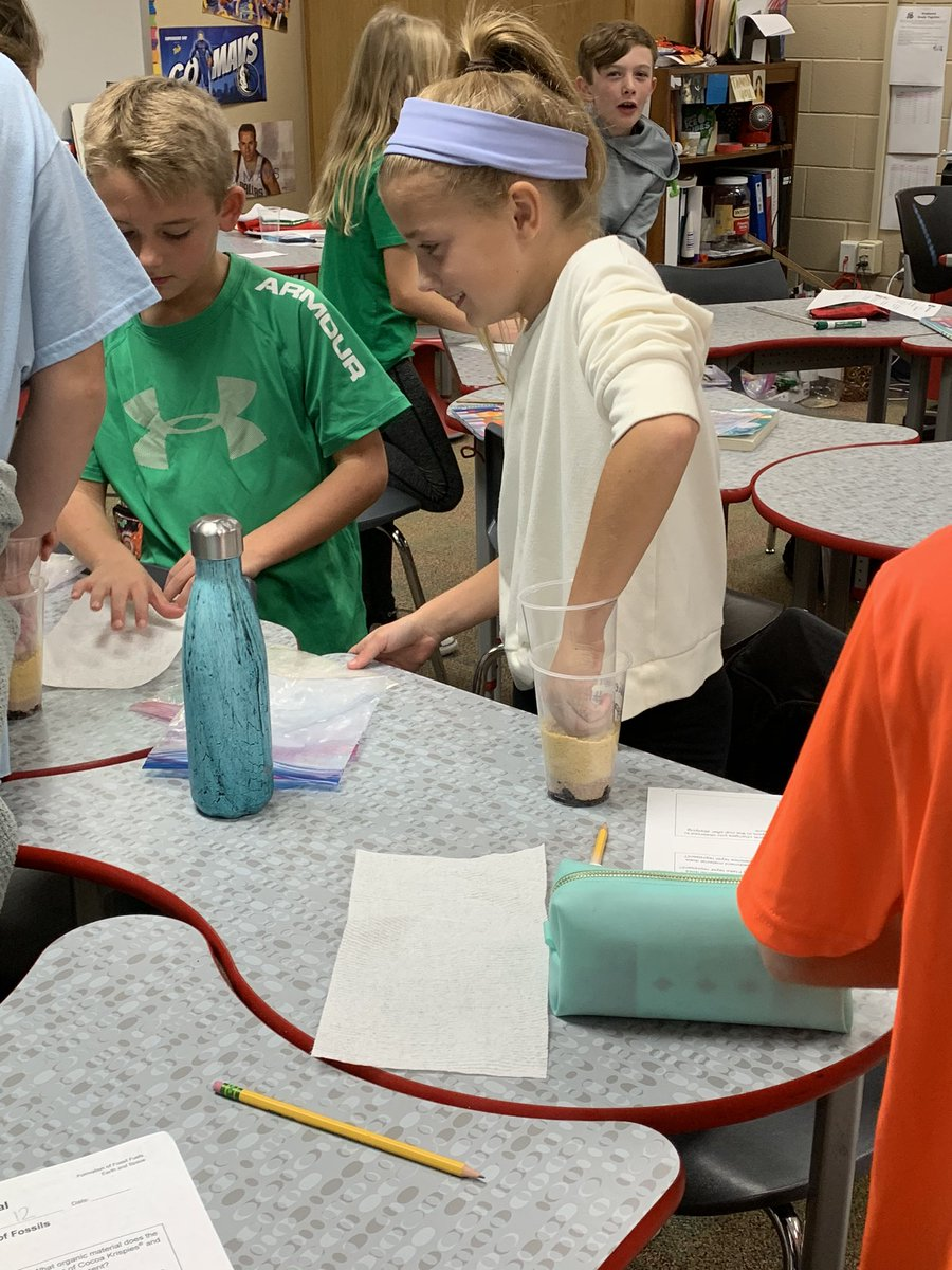 DAY 2:Investigating the formation of sedimentary rock and fossil fuels by adding pressure & heat! We  science labs!  @CESCowboys @CESShimmick #WeAreCESCowboys #WeAreGCISD <br>http://pic.twitter.com/NXGVo6hEJU