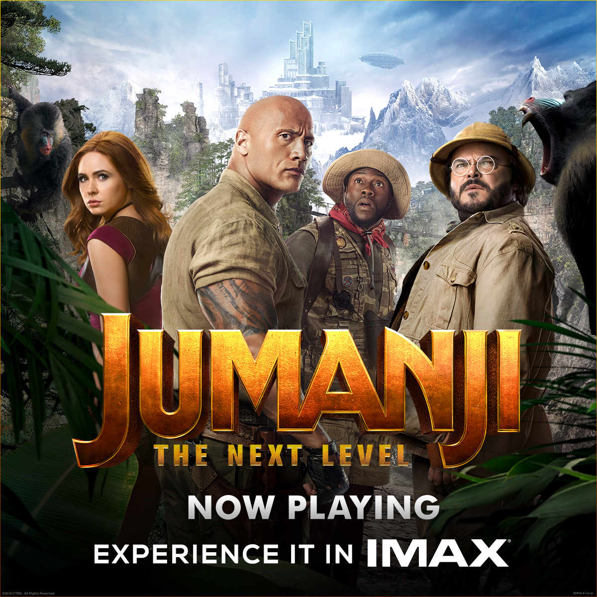 Unlock the next level of adventure when you experience Jumanji in immersive #IMAX theatres today!  Get your tickets now: https://t.co/wpmLL2zna3 https://t.co/Won3Fu5qAB