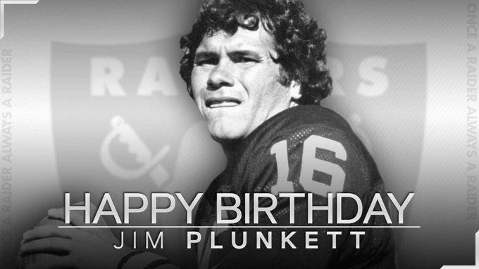 Happy birthday Jim Plunkett!!