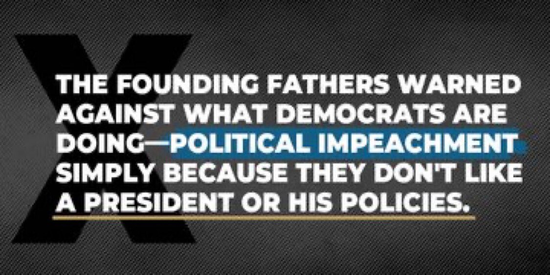 The Dem's rampant abuse of power, while using the Constitution & Declaration of Independence as their backdrop, is despicable. Impeachment based on hate... our forefathers would be appalled! Keep going @SpeakerPelosi ... you are sealing your fate.