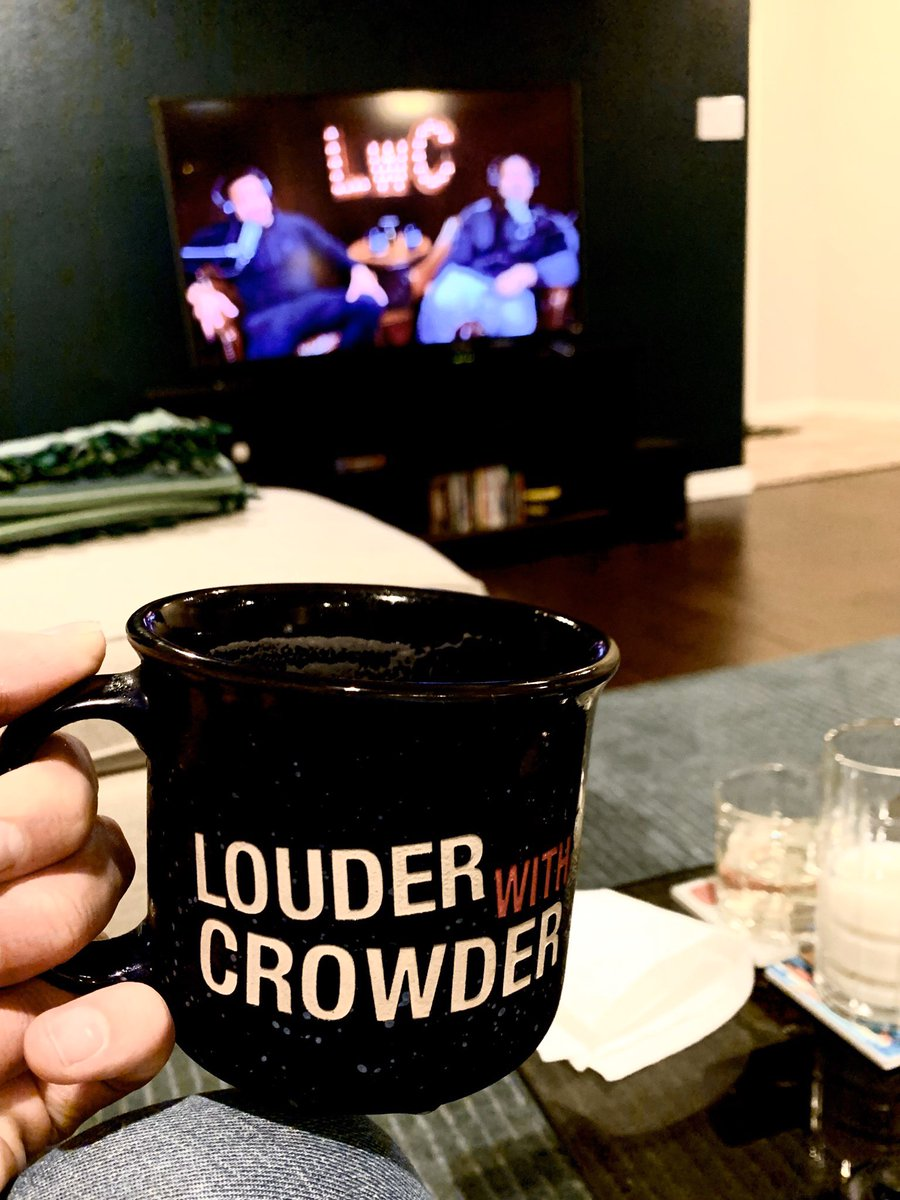 Watching @scrowder @GmorganJr @QTRBlackGarrett and @hodgetwins bring the funny! #MugClub #MugClubForLife #lwc