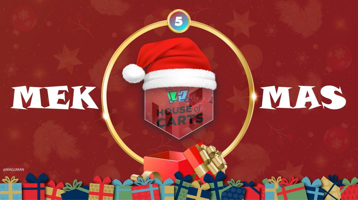 🔒 DAY 5 OF #MEKMAS 🔒Prizes:- 1x MEKNotify Membership - 1x 3Month House of Carts MembershipTO ENTER:- Like ❤️- Retweet ♻️- Follow @MEKNotify @HouseCarts 👥- Reply to this tweet with #MEKMas Ends tomorrow! Good luck 🤘