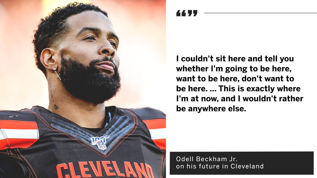 Odell Beckham Jr. doesn't know what the future holds for him in Cleveland.