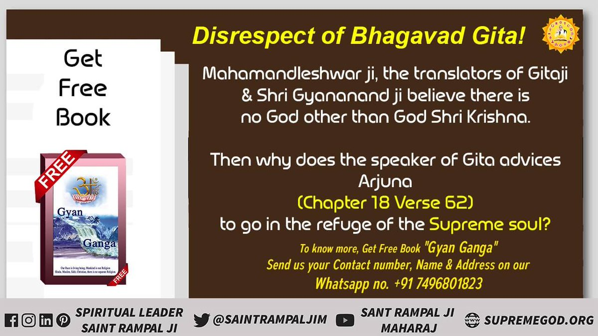 why in Gita Adhyay 18 Shlok 62 and Adhyay 15 Shlok 4, the speaker of Gita is himself telling Arjun to go in the refuge of some other God? #HiddenTruth_In_Gita Must watch Ishwar TV from 8:30  Pm IST <br>http://pic.twitter.com/u80XyPOpkI