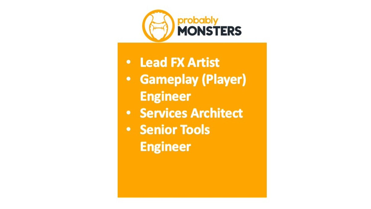 Are you: ✔ A game maker who knows the role your work plays in the final product ✔ Able to work collaboratively with a strong creative team ✔ Able to deliver high quality, performant VFX  This Lead FX Artist posting is one of several key roles now open: