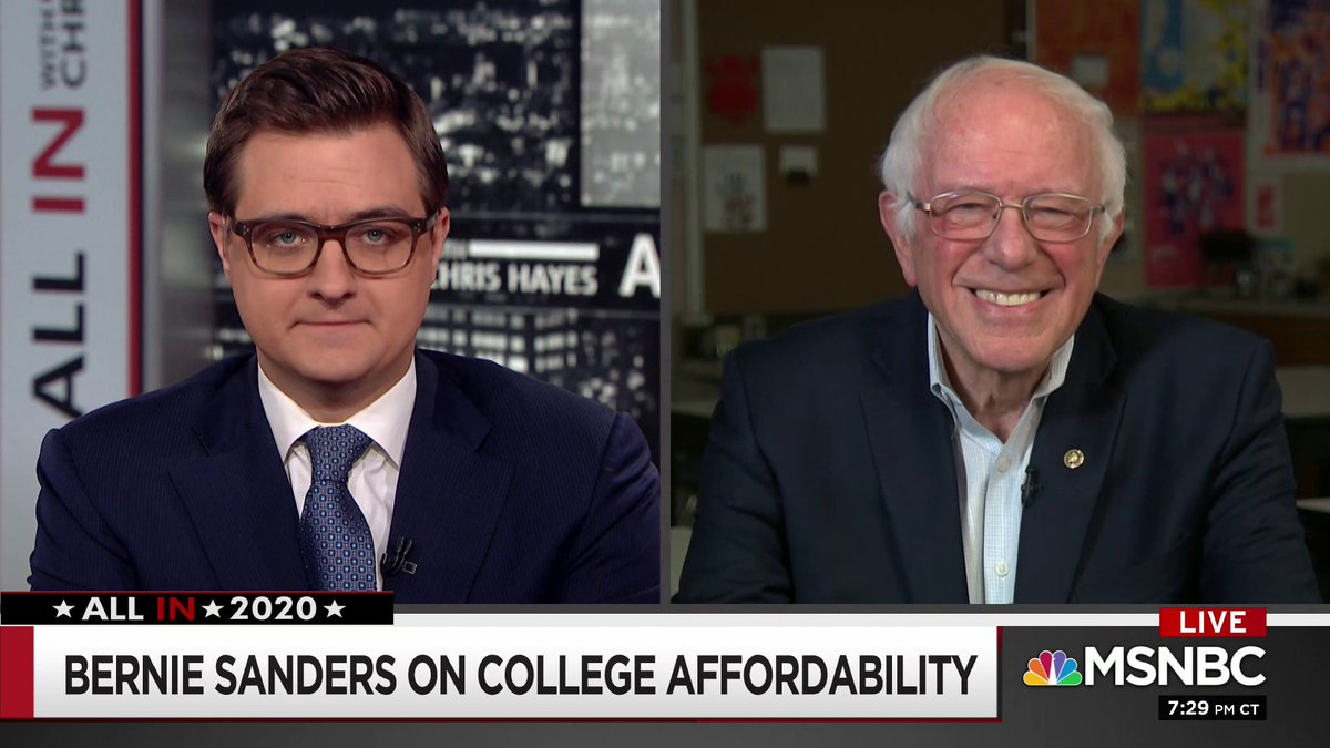 Absolutely brilliant 90 seconds from @BernieSanders where he breaks down just how wrong Pete is on universal healthcare and universal college for all.