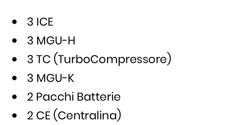 Power Unit regulation 2020 #F1 ! Each driver can mount 3 MGU-Ks (one more component than 2019) before incurring penalties in order to help the teams complete the longest season ever. In detail, each single-seater will have ⬇️