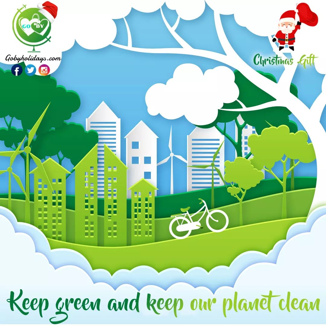 Keep green and keep our planet clean with #GoByHolidays  #saveearth #gobygiveaway #nature #gogreen #environment #ecofriendly #zerowaste #climatechange #savetheplanet #savetrees #savenature #earth #savewater #india #savetheearth #love #green #eco #life