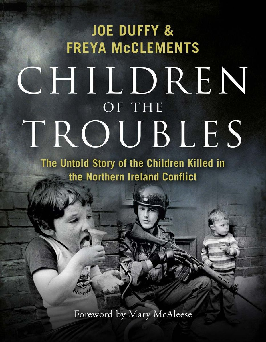"It was suggested by Joe Duffy to Mark Carruthers on #bbctheview that the photo used on front of 'Children of the Troubles' depicts an ""innocent"" scene. It actually shows a British soldier making tactical use of kids as human shields as he patrols Derry in '79. That's a war crime. <br>http://pic.twitter.com/iHogKMB9jo"