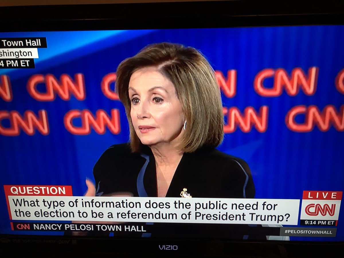 @SpeakerPelosi is showing us all what a decisive, deliberate and patriotic woman in power looks like in the United States of America #PelosiTownHall <br>http://pic.twitter.com/dUQZ3i3DI6
