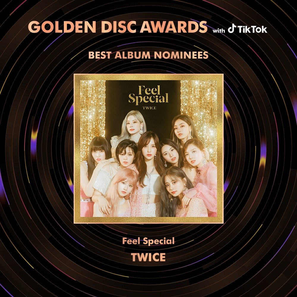 TWICE has been nominated for both the Best Album (Feel Special) and Best Digital Song (Yes or Yes) categories for the 34th Golden Disc Awards  #TWICE  @JYPETWICE <br>http://pic.twitter.com/rE0u99VWyj