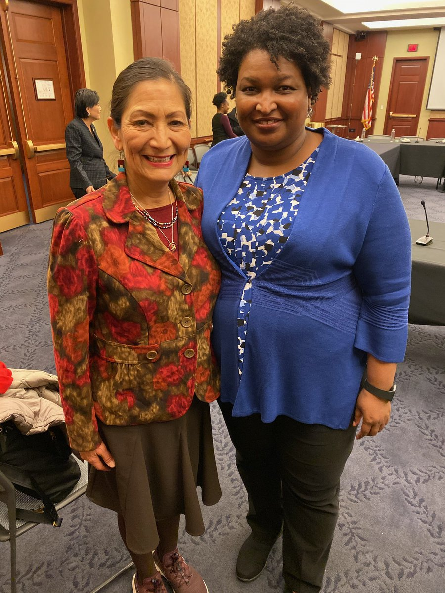 Ran into @staceyabrams at a meeting to discuss how we can help communities of color get counted in the #2020Census. #NMCounts<br>http://pic.twitter.com/ECrfvxBzdR