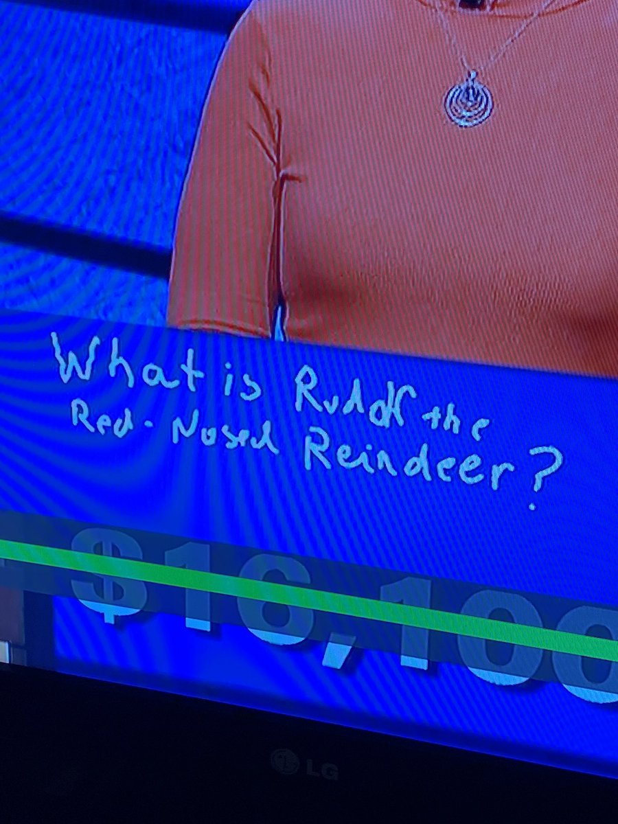 Who is Ruddf the Red Nosed Reindeer? 🤷‍♂️ 🤔 #Rudolph #Fail @Jeopardy