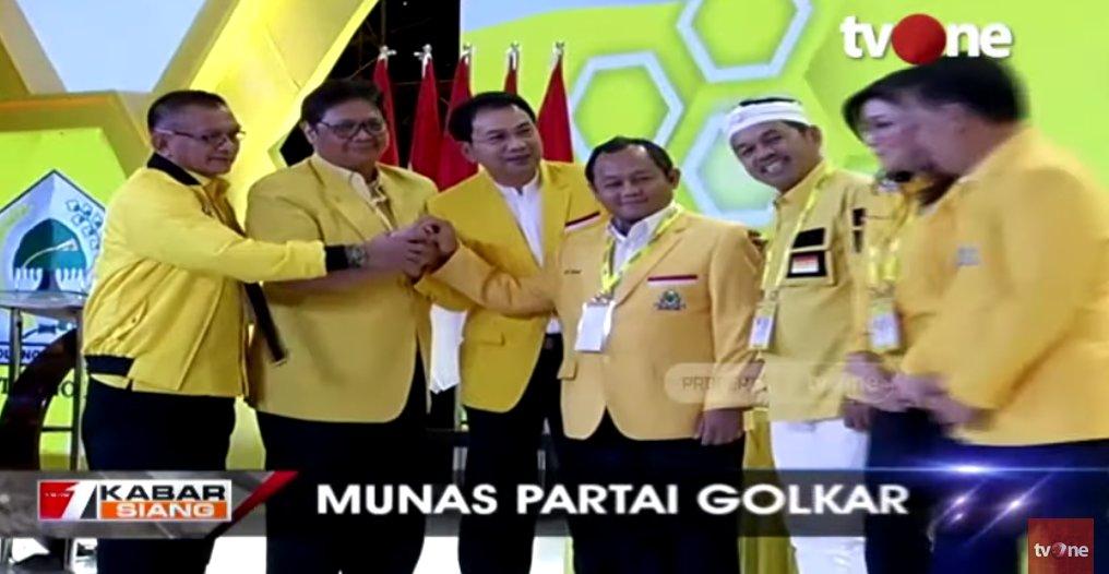 Munas Partai Golkar, Airlangga Hartato Kembali Terpilih Jadi Ketua Umum http://ow.ly/D0Vh50xso3ESaksikan video berita lain di youtube channel tvOneNews #tvOneNews