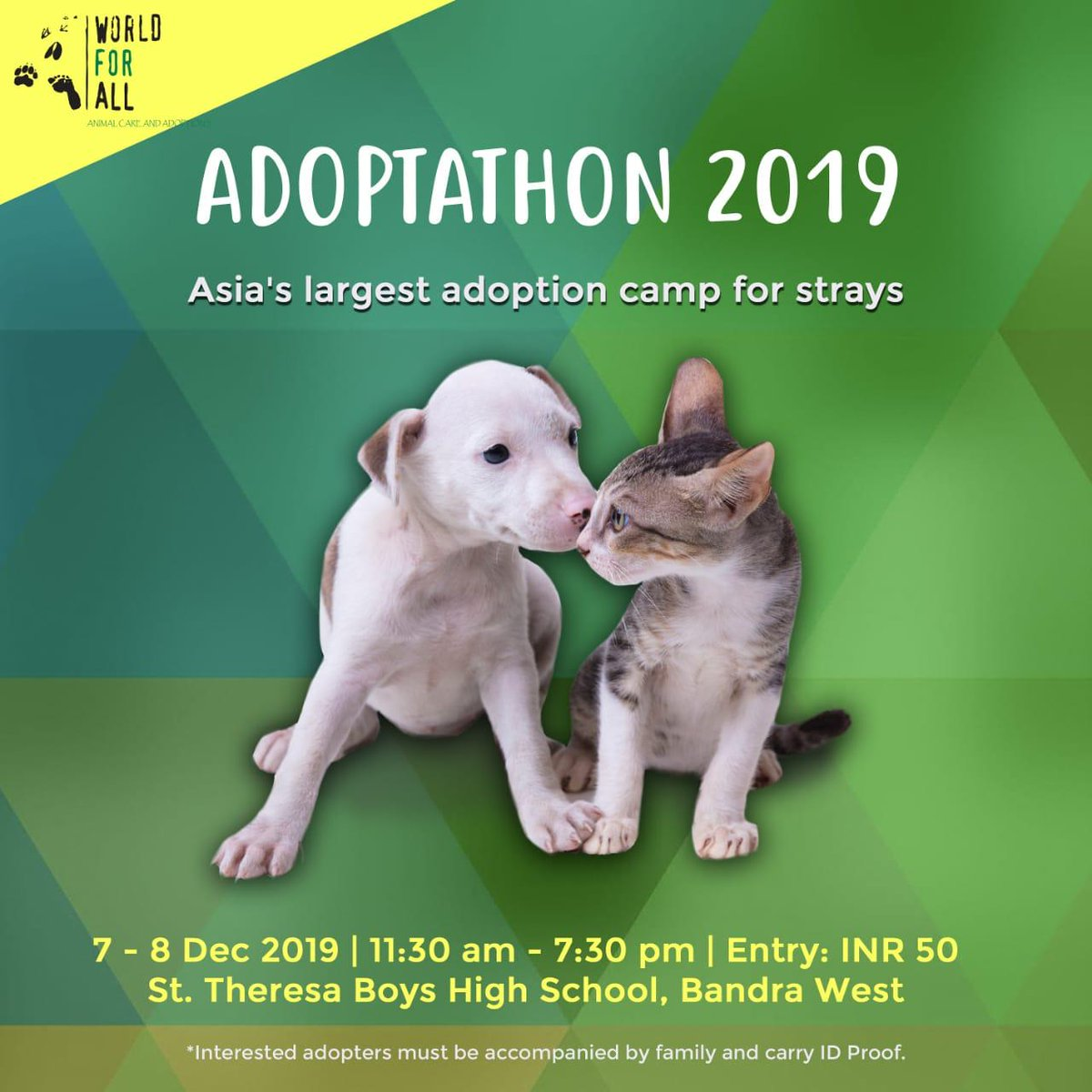 ADOPTATHON 2019, the happiest adoption camp is here!! Asia's biggest adoption camp 4 Indian breeds is returning this Dec where u cn meet & choose from over 180 healthy & super awesome puppies & kittens!! #Adoptathon #Adoptathon2019 #NationalMuttDay #AdoptDontShop #AdoptionDay