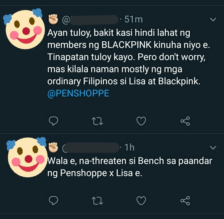 Sis sit down. If u can see sa teaser/promo vid, it was during Twice's Feel Special Comeback preparation. It was planned waaaay before Penshoppe revealed that Lisa will be their newest endorser.   Bench is not threatened, they've been working with several idols since before. <br>http://pic.twitter.com/7hQTLi4Dox
