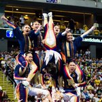 Image for the Tweet beginning: The NU Pep Squad will