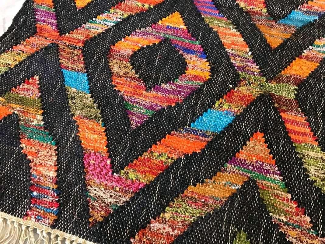 Handwoven Flat weave rugs...#texture #instamood #domotex2020 #lovethis #colorfull #jute #madeinindia #handmade #lovethispost