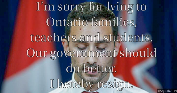 @Sflecce @fordnation and @Sflecce have demonstrated a severe lack of background, experience, knowledge and education on SO many critical issues for Ontario.  We deserve better.   #resignstephenlecce #LyingLecce  #NoCutsToEducation