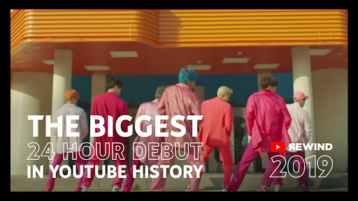 Thank you for making Boy With Luv feat. Halsey the Biggest 24 hr Debut in YouTube History and Boy With Luv feat. Halsey & Chicken Noodle Soup (feat. Becky G) the Top 10 Most Liked Music Video in 2019! #BTS #방탄소년단 #jhope #제이홉 #YouTubeRewind @YouTube