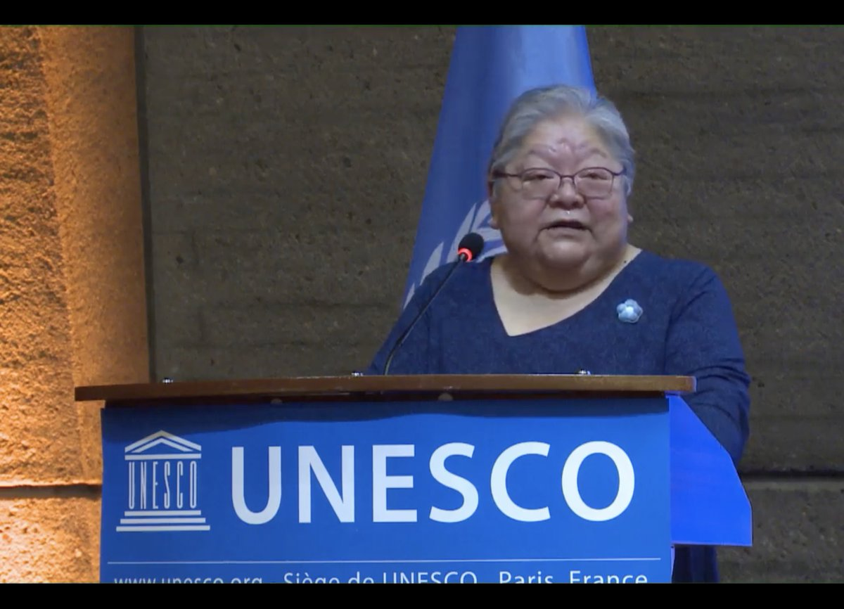 """Pr. Lorna Williams, Uni of Victoria, about indigenous languages: """"For people building technology for our use: work with us, work with us. Don't assume that you know – you know a lot about your area, we know about ours – together we can make it better"""" @LT4All @IYIL2019 @Unesco<br>http://pic.twitter.com/NxIp9Ylw5Z"""