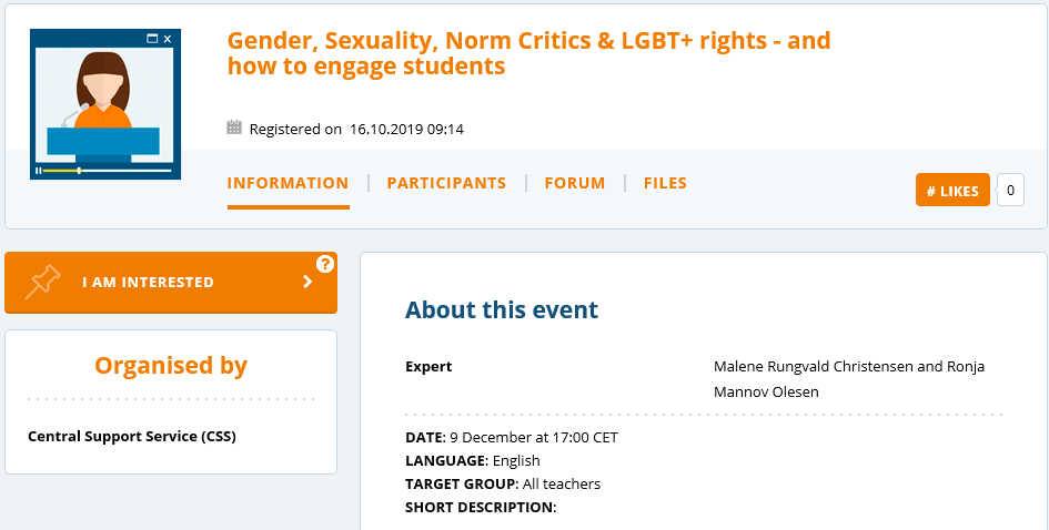 Don't miss the Online Seminar: Gender, Sexuality, Norm Critics & LGBT+ rights - and how to engage students next Monday at 17 CET!  https:// live.etwinning.net/events/event/9 1402   … <br>http://pic.twitter.com/kR3F0fEIHB