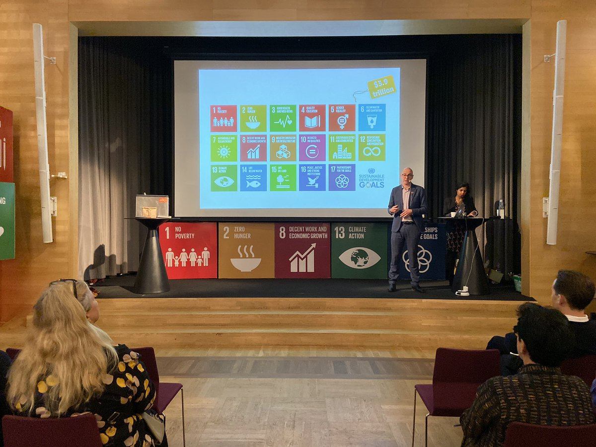 Achieving the #GlobalGoals by 2030 will require $3,9 trillion a year, only in the global south! Business with a social impact will be paramount to delivering this agenda, Mike Debelak @InclBusiness. It's great to be in Gothenburg for #IBF2019! https://www.siani.se/event/inclusive-business-forum-2019-pitch-and-partner/…pic.twitter.com/BLCPqqIyt7
