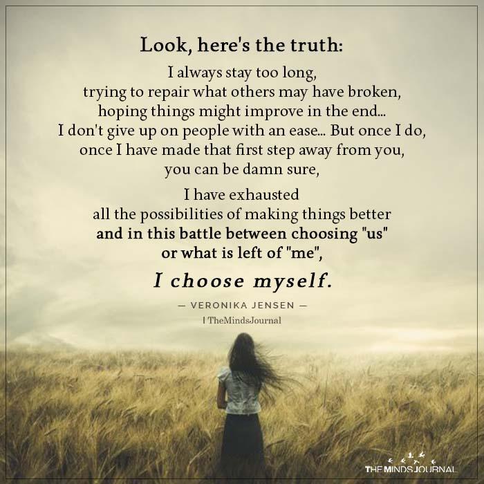 Choose yourself