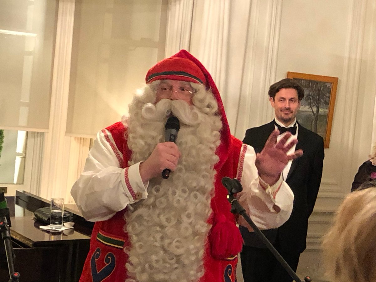 test Twitter Media - Happy Finland Independence Day @MKeinanen & friends at @finlandinuk - thanks for the very festive Finnish birthday party to toast & 100 yrs of 🇬🇧🇫🇮 diplomatic ties. A treat to meet your VIP 'roving ambassador' from #Lapland! What are diplomats wishing for this Xmas we wonder...? https://t.co/6kMLwugqsD