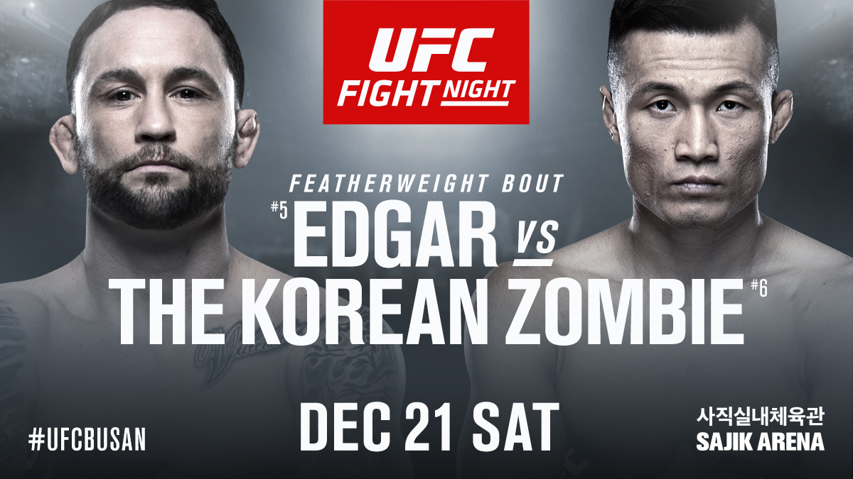 Brian Ortega is out!  @FrankieEdgar steps in to face @KoreanZombieMMA in the #UFCBusan main event!