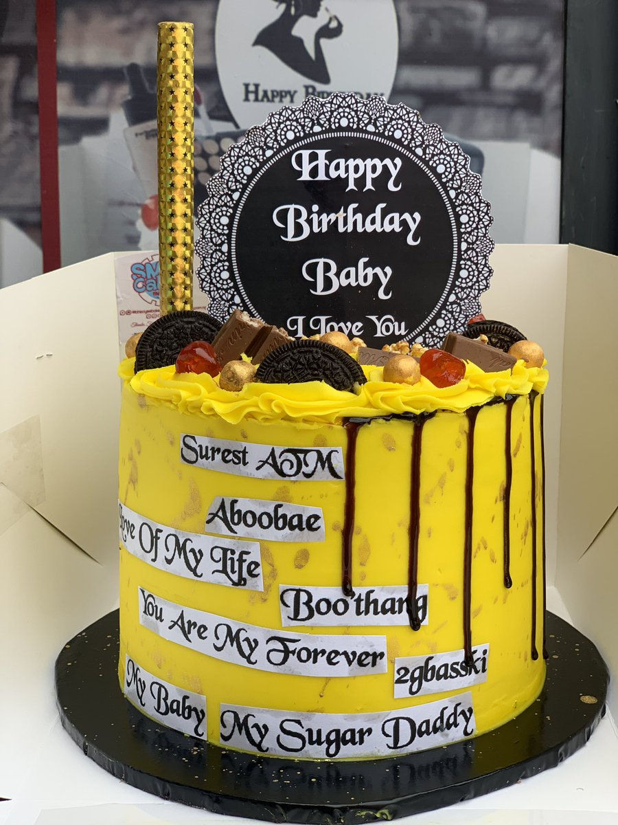 A yummy vanilla cake in yellow buttercream  for her husband   Off to Alausa Ikeja Lagos. We deliver! We don't disappoint  <br>http://pic.twitter.com/6Xpn4bPvgv